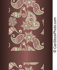 vector frame for your text on seamless hand drawn paisley...