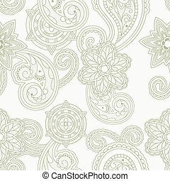 vector seamless paisley background, clipping masks