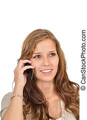 Gesch?ftsfrau telefoniert nachdenklich