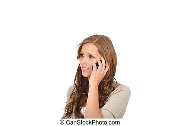 Call Center Agent mit Handy
