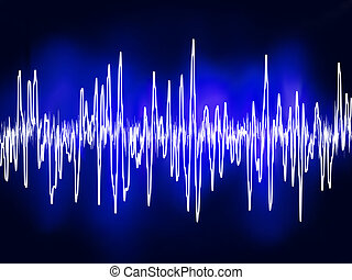 Electronic sine sound or audio waves. EPS 8 vector file...