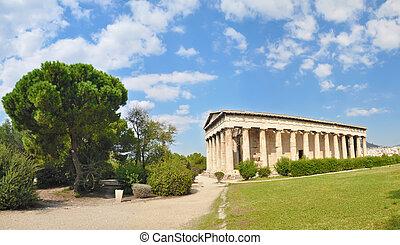Athena, templo,  Hephaestus, grecia