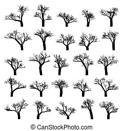 Spooky tree silhouette vector isolated EPS 8 - Spooky tree...