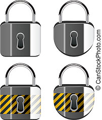 vector set of padlocks