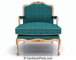 Classical stylish armchair isolated on white background