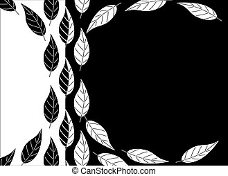 Black and white leaves background - Simpleblack and white...