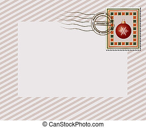 Christmas letter - A vintage style Christmas stamp with...