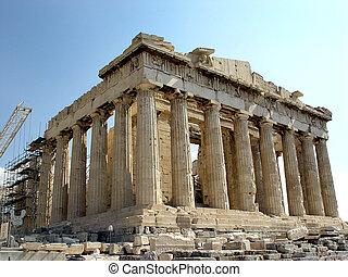 Parthenon, Acropolis - A view of the Parthenon Temple of...