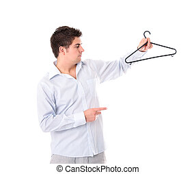 Man with a hanger
