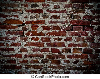 Brick wall with facing of concrete