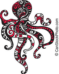 octopus - vector Illustration of a octopus