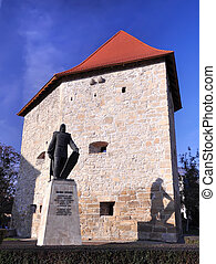 Bastion - Very old bastion from Cluj Napoca city, in spring...