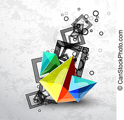 Vector abstract pyramid background - Vector illustration for...