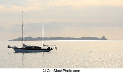 boat - sailing boat moored