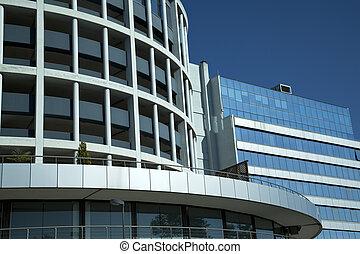 modern facade of buildings