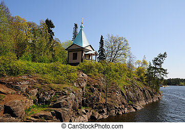 Island Valaam on Ladooga lake - North Russia. Island Valaam...