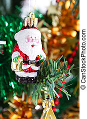 santa claus ornament - little santa claus ornament hanging...