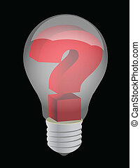 Solutions and ideas concept illustration light bulb design