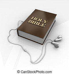 Holy Bible - Photo holy bible and cross on a wooden brown...