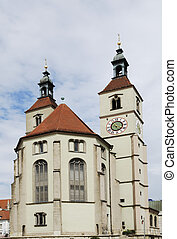 Protestant church in Regensburg - New Parish Church in...