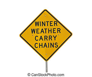 Winter Weather Carry Chains - Winter weather carry chains...