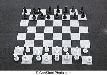 Big chess - Outdoor chess game and big chequer board