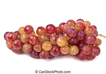 Grapes - Pink Grapes isolated on a white background