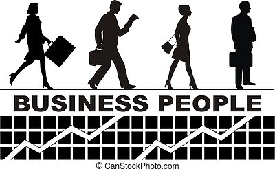 business people and white background