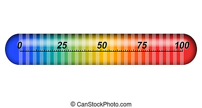 scale and white background