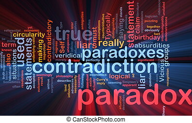Paradox contradiction background concept glowing -...