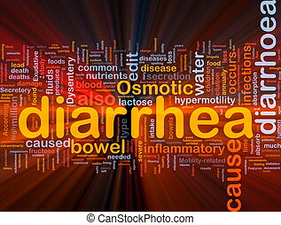 diarrhea diarrhoea background concept glowing - Background...