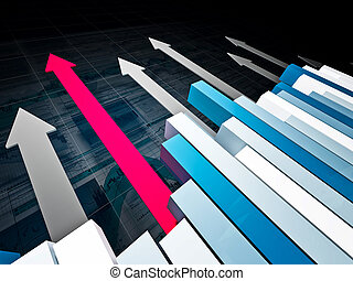 financial graph 3d background