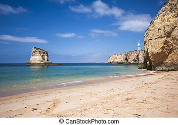 Algarve Beach - Praia de Caneiros beach under the Algarve...