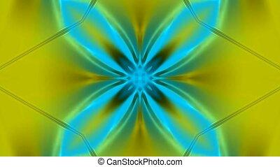 glowing flower pattern as disco