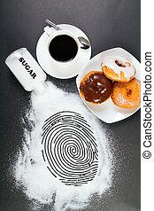 junk food is a crime - conceptual photo: junk food is a...