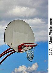 basketball hoop and sky