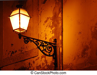 Classic vintage lamp in Lisbon - Classic vintage lamp on...