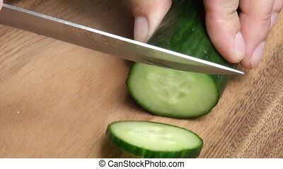 sliced cucumber.