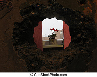 The Hall - Here you can see a little hole in the wall I...