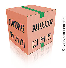 moving box - cardboard moving box
