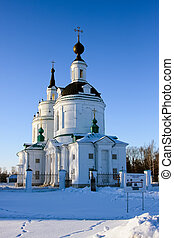 Russian church at winter, Nizhny Novgorod region, Russia