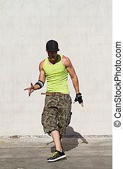 hip hop dancer dancing - young male hip hop dancer dancing