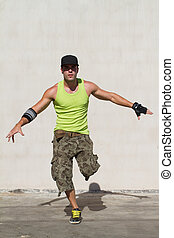 hip hop dancer dancing - young male hip hop dancer dancing