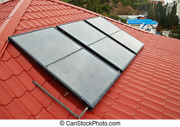 Solar water heating system. - Solar water heating system...