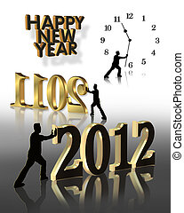 New Year 2012 Graphics - Graphic illustrations for New years...
