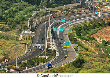 Aerial view on Highway.