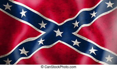Rebel flag waving.