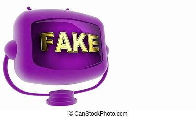 fake on loop alpha mated tv
