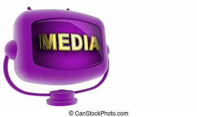 media on loop alpha mated tv