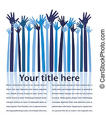 Happy celebration hands. - Happy celebration hands with copy...